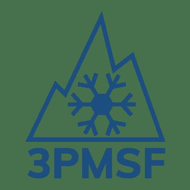 Logo de certification 3 peaks mountain snow flake