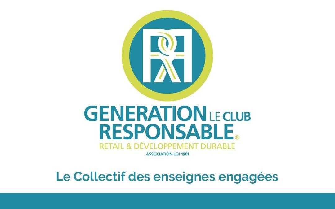 Logo et slogan de l'association Génération le club Responsable